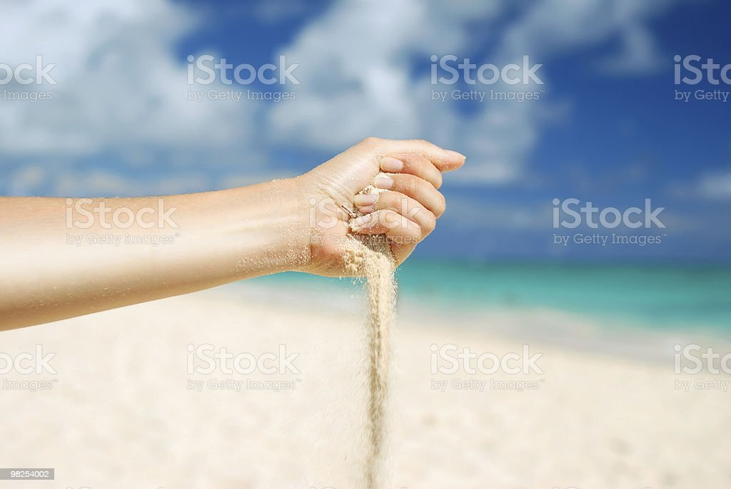 Sand in hand royalty-free stock photo