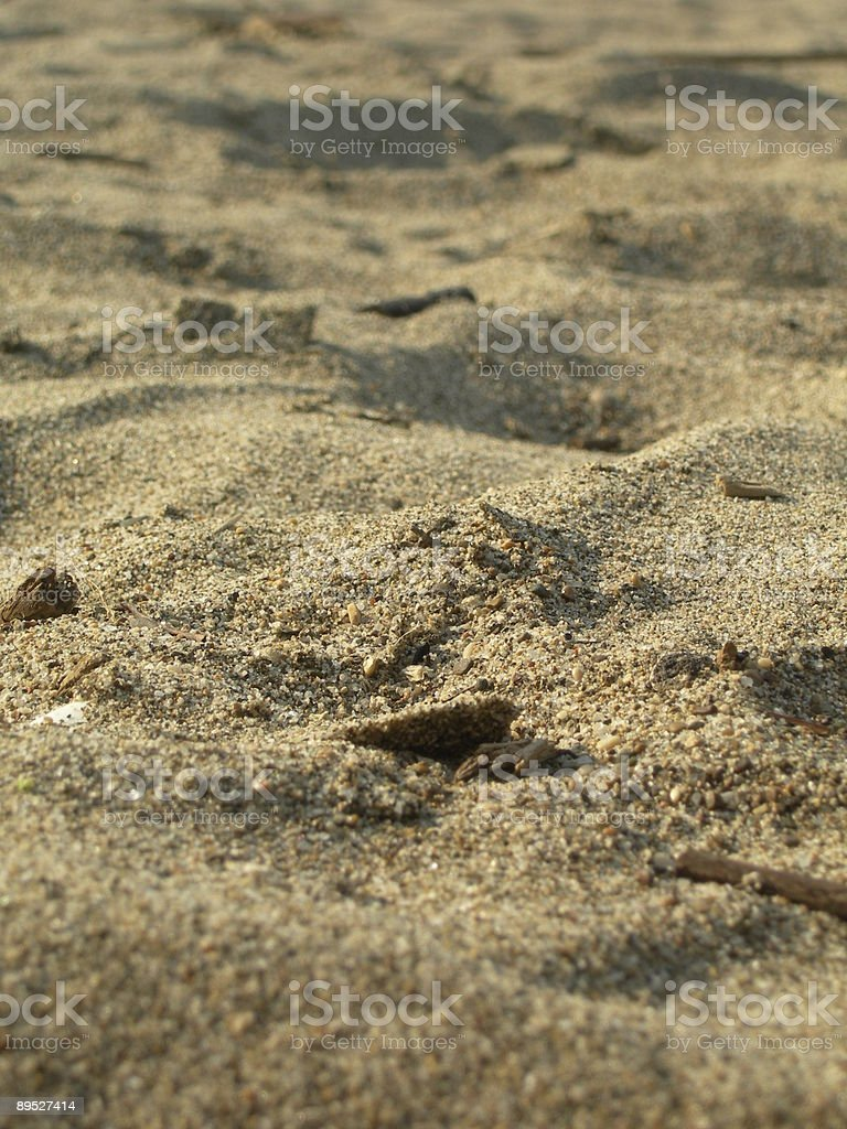 Sand in the sunny afternoon royalty-free stock photo