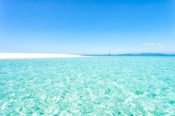 sand island - great barrier reef marine park stock pictures, royalty-free photos & images