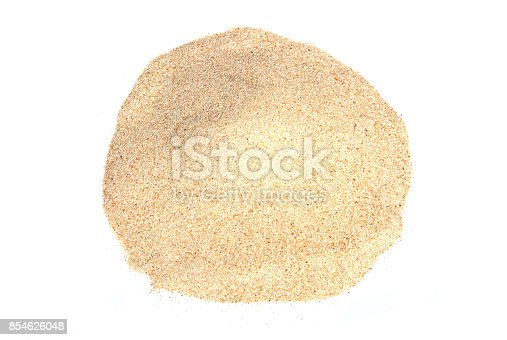 istock Sand isolated on white backgrounds 854626048