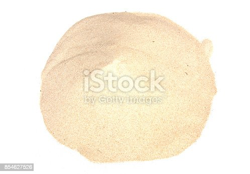 istock Sand isolated on white backgrounds 854627526