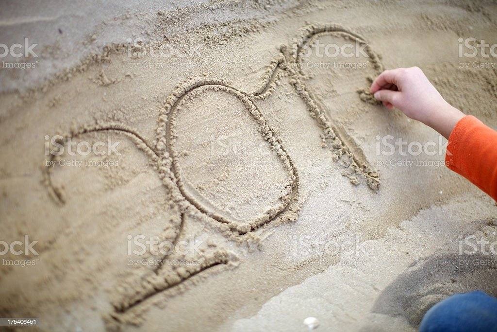 Sand Message royalty-free stock photo