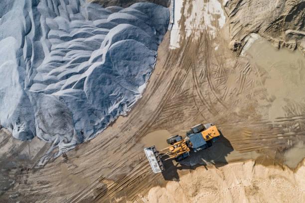 Sandmine, Blick von oben – Foto