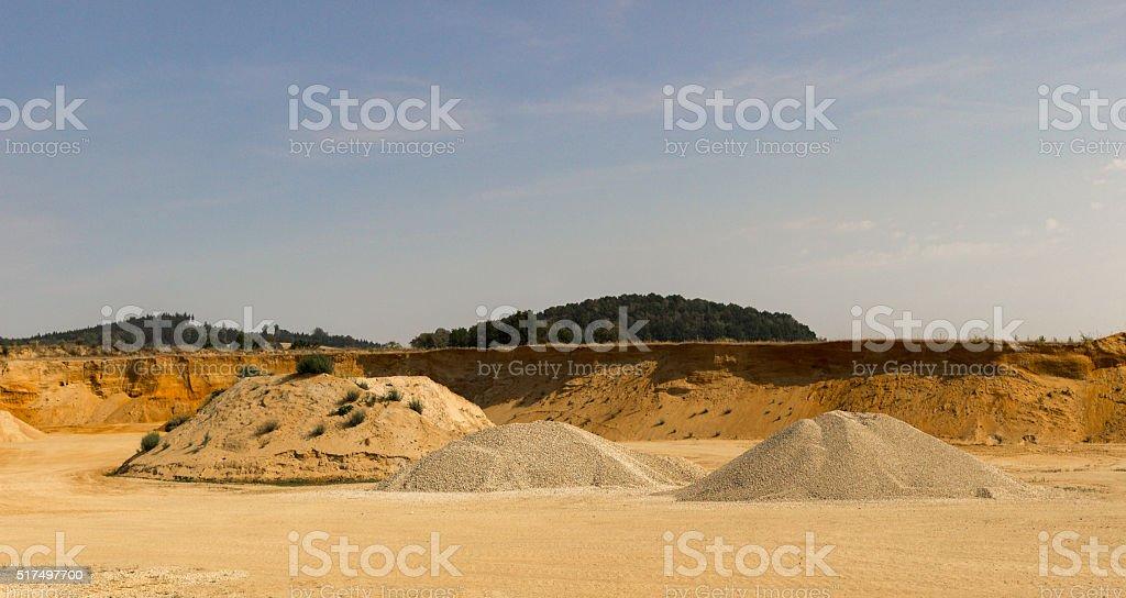 Sand Bergbau – Foto