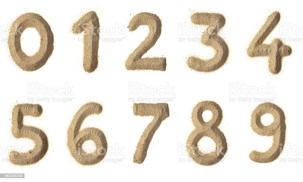 Números de arena - foto de stock