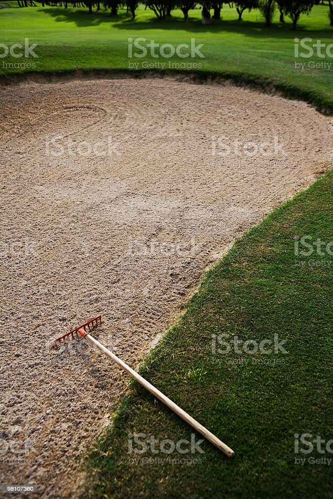 Sand on Golf course royalty-free stock photo