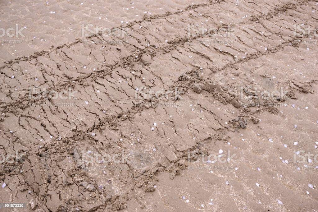 在海灘上砂 - 免版稅乾旱氣候圖庫照片