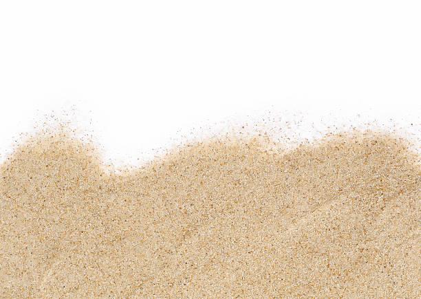 piasek na białym tle - piasek zdjęcia i obrazy z banku zdjęć
