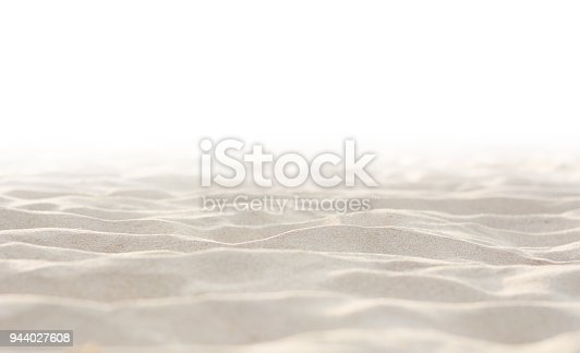 Sand on white background