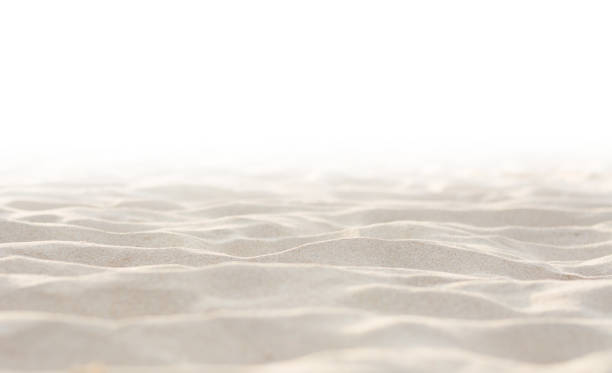 Sand on white background Sand on white background sand stock pictures, royalty-free photos & images