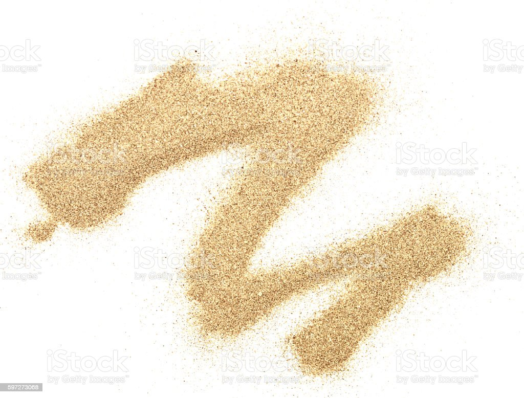 sand on white royalty-free stock photo
