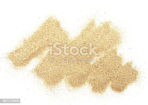 Sand Auf Weiß Stock-Fotografie und mehr Bilder von Abstrakt