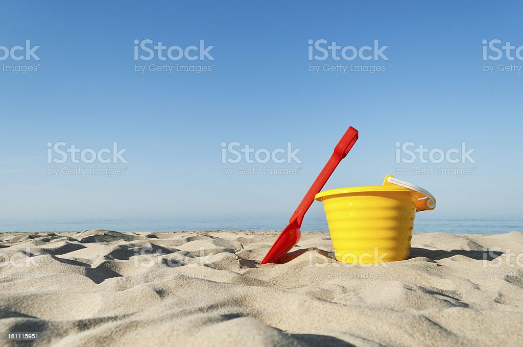 Sand Pail And Shovel stock photo