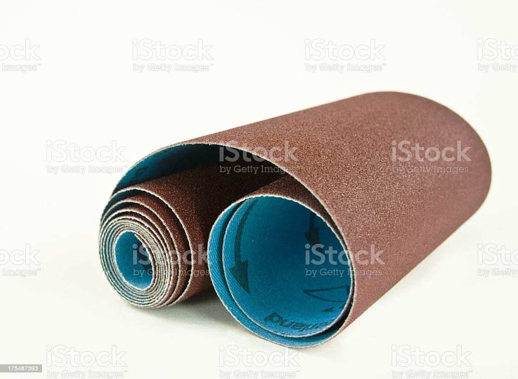 Sand Paper Roll stock photo