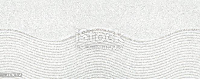 Zen pattern in white sand
