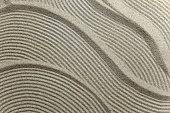 Sand pattern texture close up