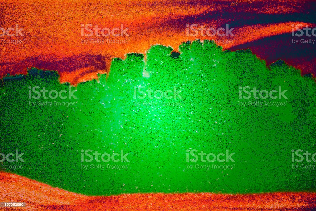 Sand Picture Green and Orange stock photo