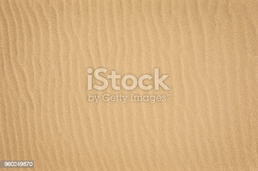Looking down on a clean sand