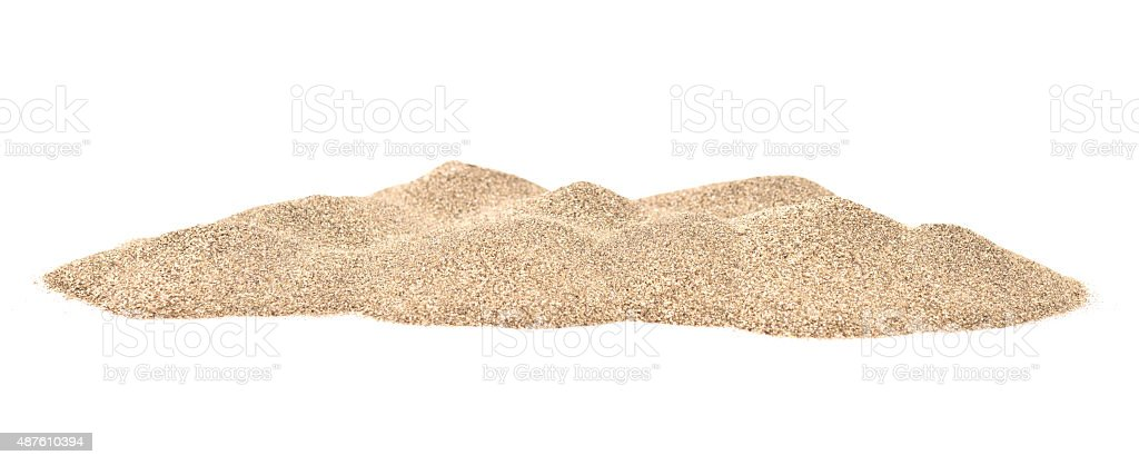 Pilha de areia - fotografia de stock