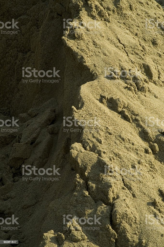 Sand pile stock photo