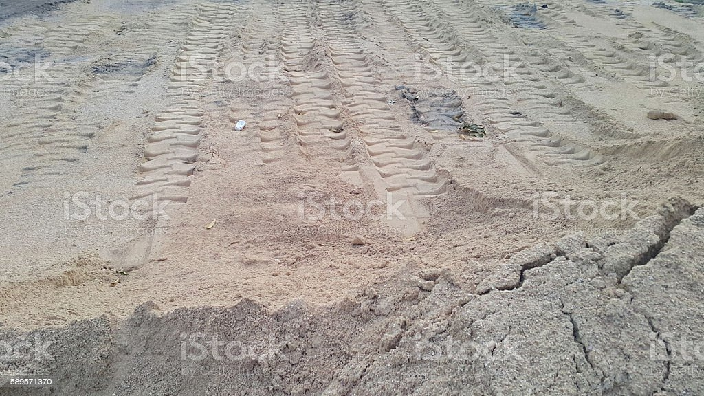 Sand pit. Sand special for construction. stock photo