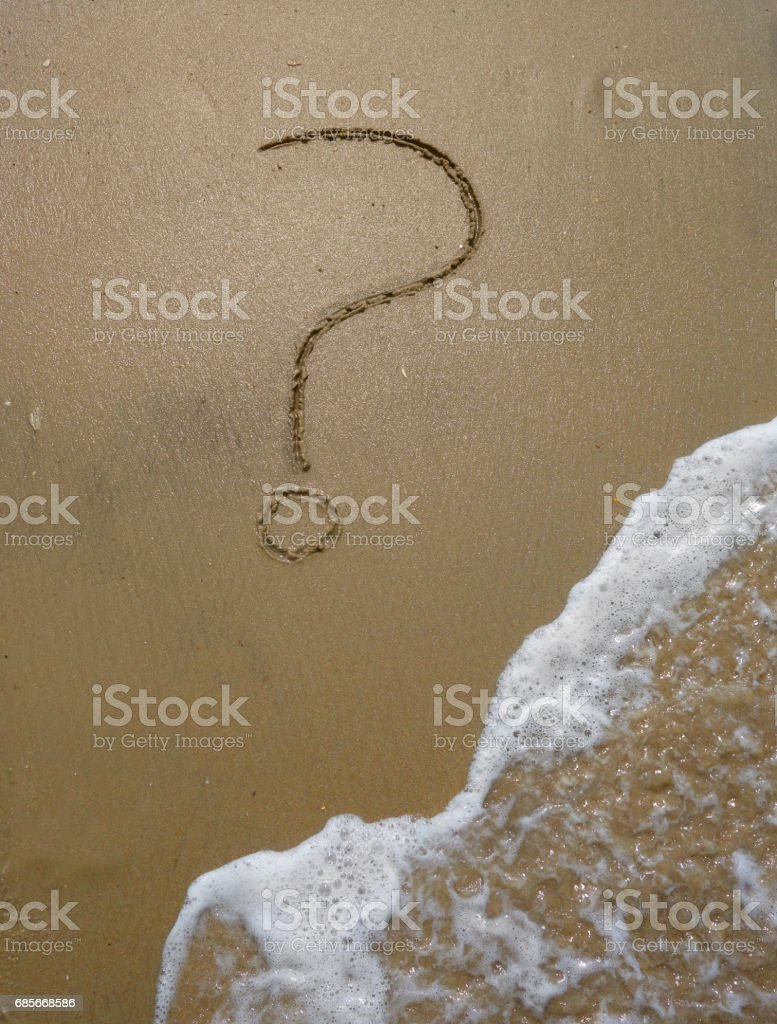 Sand question mark Lizenzfreies stock-foto