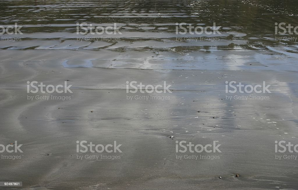 Sand reflections royalty-free stock photo
