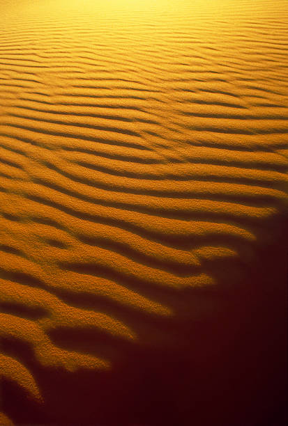 Sand Ripple and Shadow Patterns stock photo