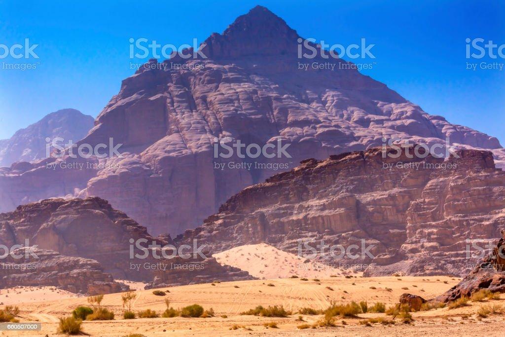 Sand Rock Formation Valley of Moon Wadi Rum Jordan stock photo