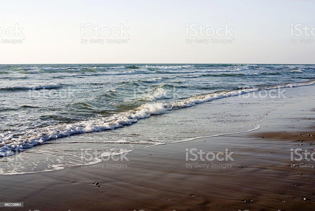 Sand, sea, sky royalty-free stock photo