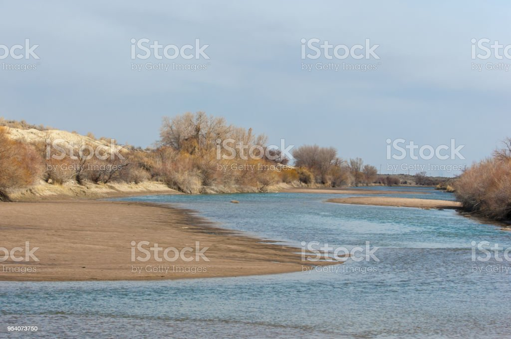 sand spring steppe stock photo
