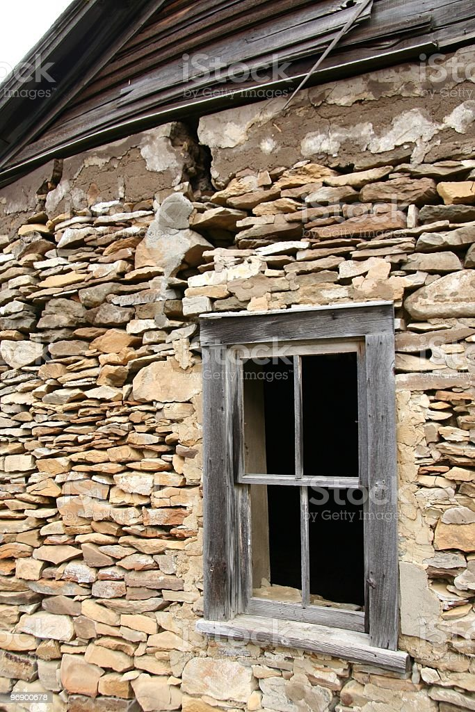 Sand Stone House Window royalty-free stock photo