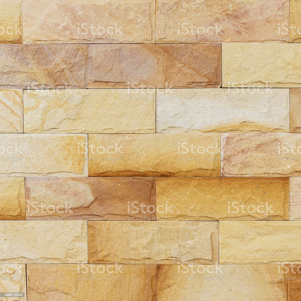 Sand Stone Wall Background Of Decorate Stock Photo & More Pictures ...
