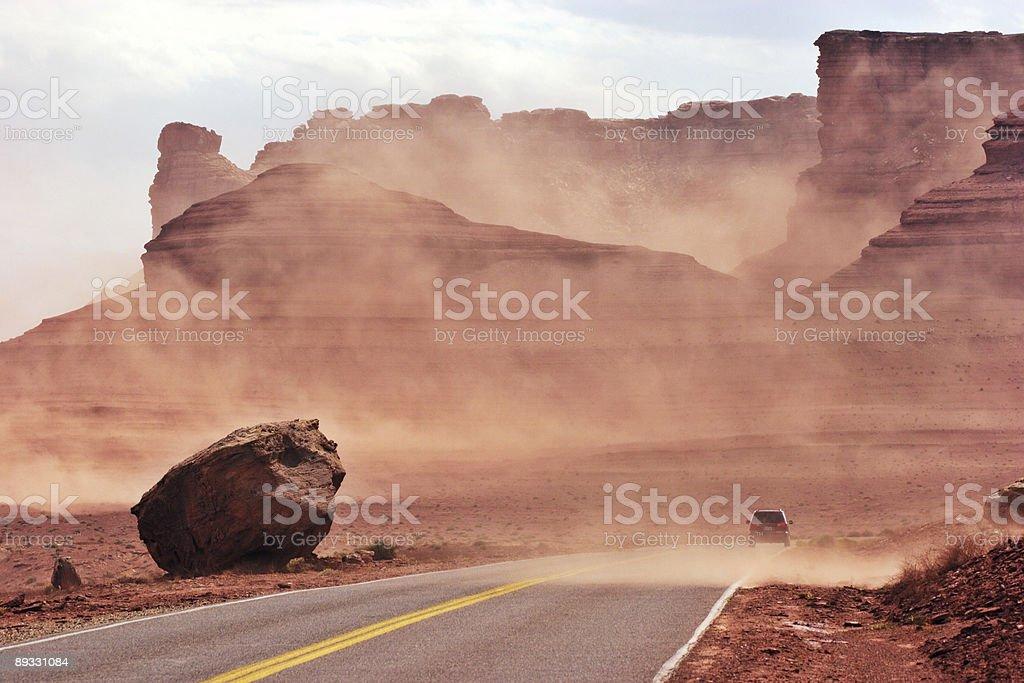 Sand storm royalty-free stock photo