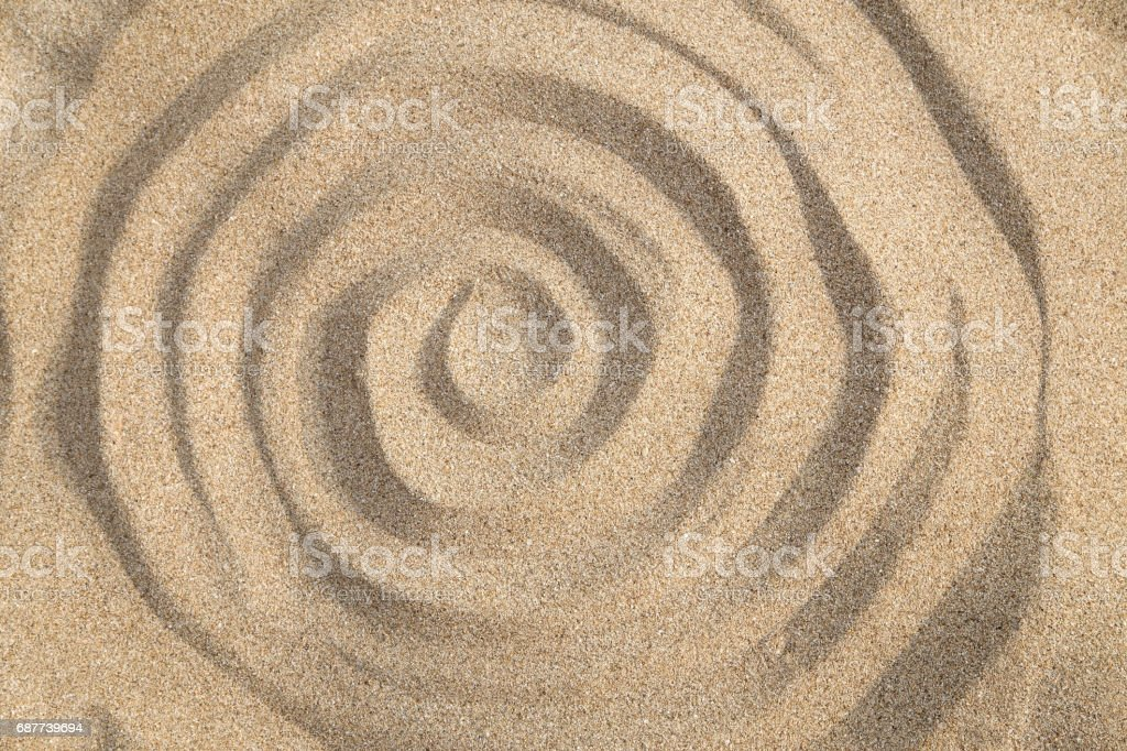Sand swirl stock photo