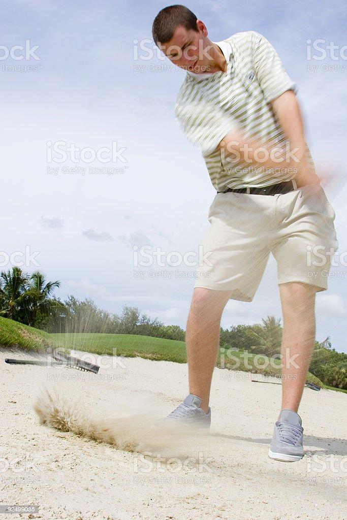 Sand Trap royalty-free stock photo