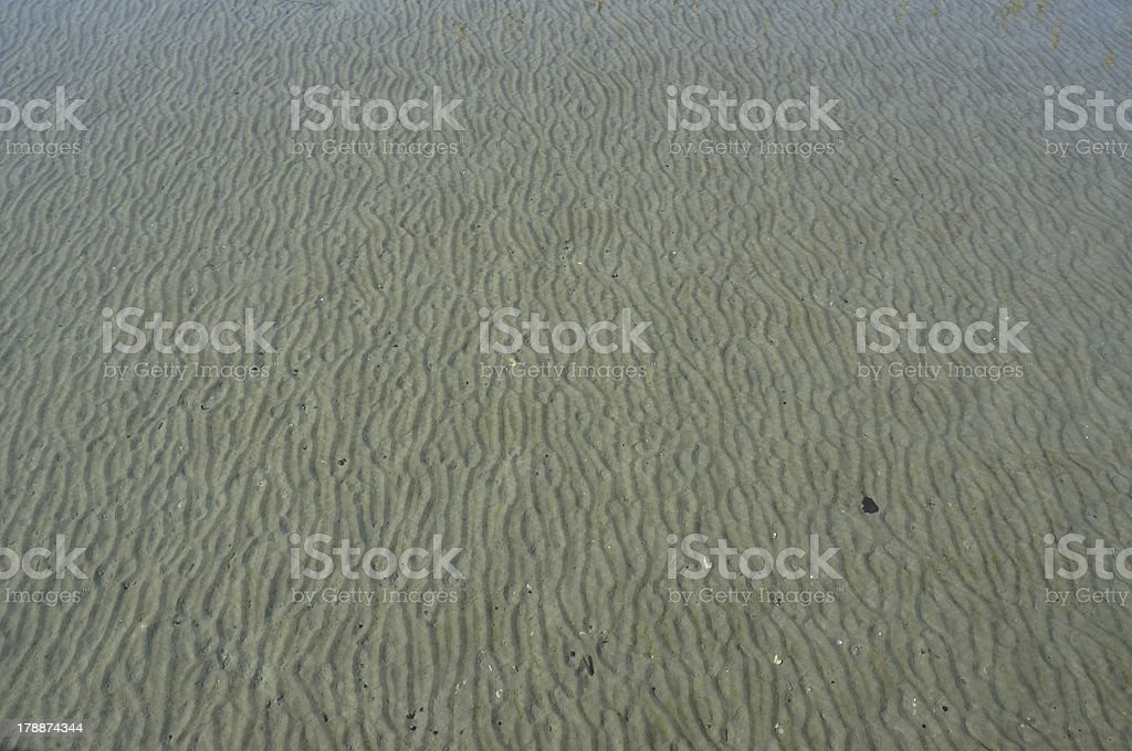 Sand under water royalty-free stock photo