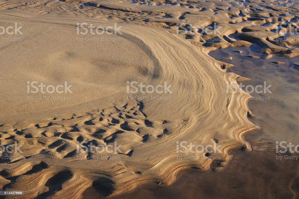 Sand waves 2. stock photo
