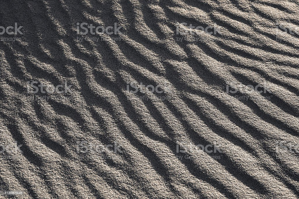 Sand Waves Black and White stock photo