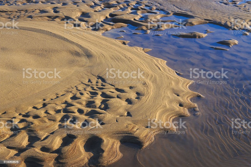 Sand waves. stock photo