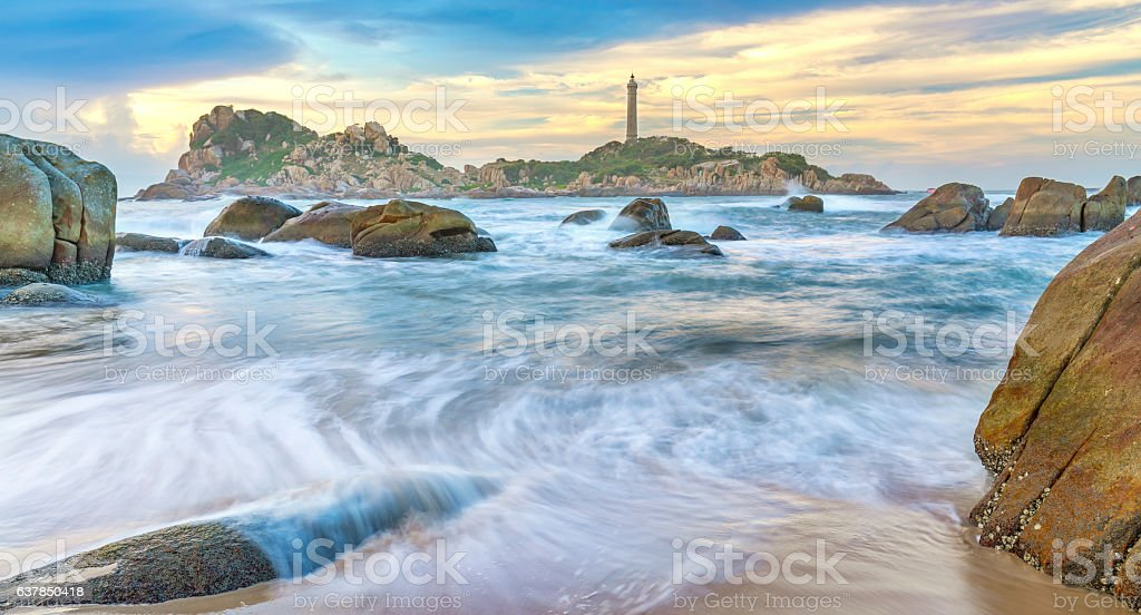 Sand waves with white streaks stock photo
