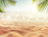 sand with blurred sea sky background, summer day