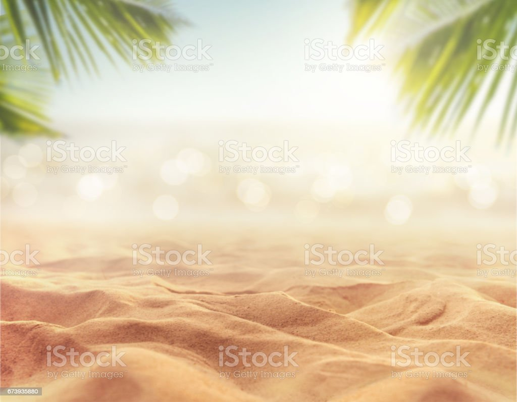 sand with blurred sea sky background, summer day​​​ foto