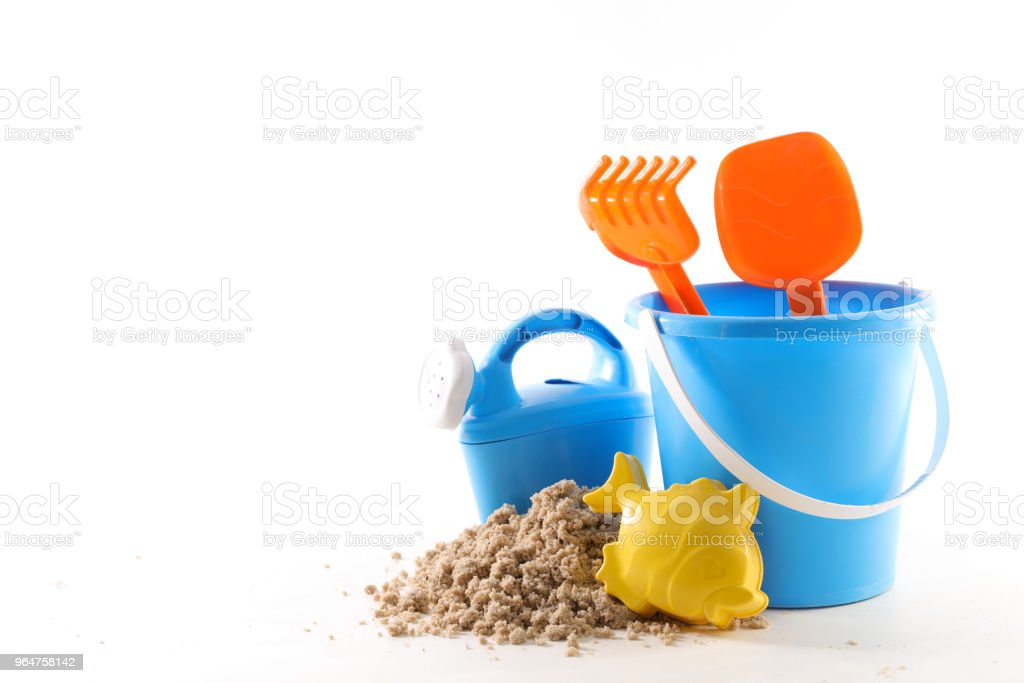 sand with toys, holiday concept royalty-free stock photo