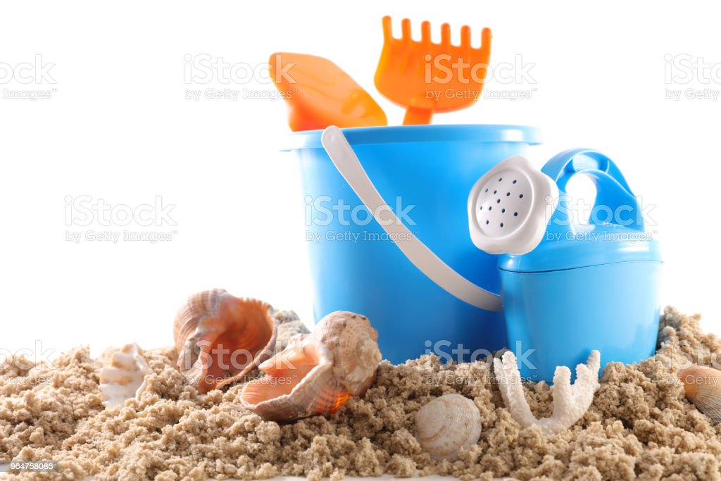 sand with toys royalty-free stock photo