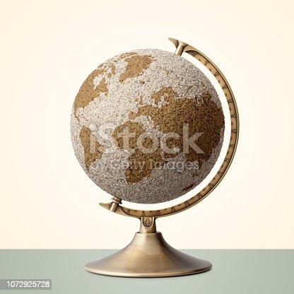 Sand world globe.