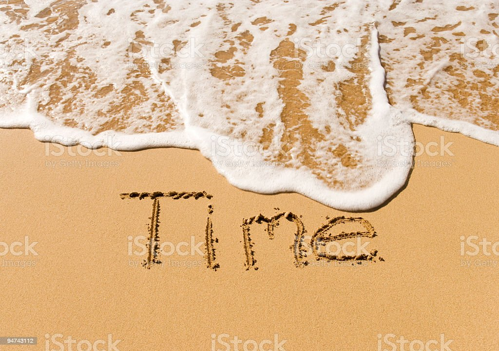 Sand Writing royalty-free stock photo