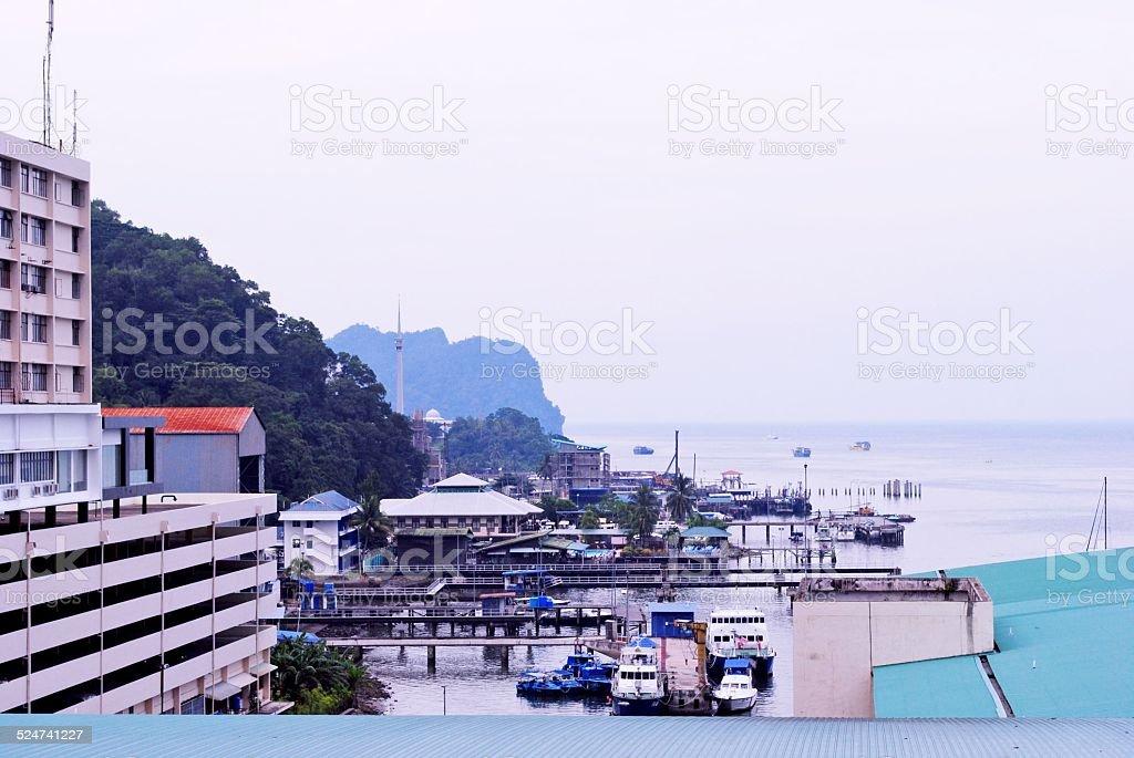 Sandakan Town in Sabah Borneo, Malaysia stock photo