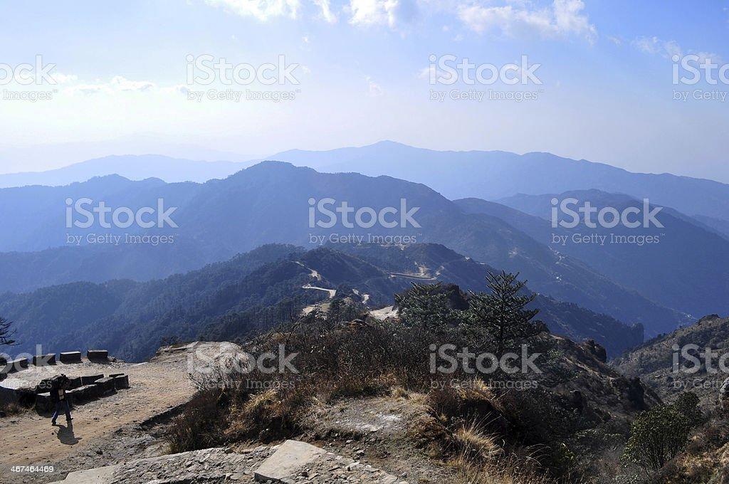 Darjeeling, India - April 4, 2013: Sandakfu or Sandakphu trekking royalty-free stock photo