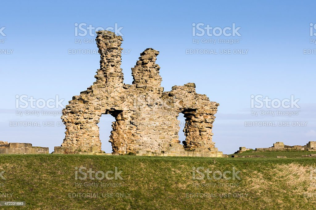 Sandal Castle Ruins in Wakefield in West Yorkshire stock photo